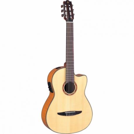 Guitarra Acústica YAMAHA Guitarra EA de cuerdas de nylon caja clàsica aros y fondo de maple flameado GNCX900FM - Envío Gratuito