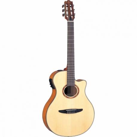 Guitarra Acústica YAMAHA Guitarra EA de cuerdas de nylon caja delgada aros y fondo de maple flameado GNTX900FM - Envío Gratuito