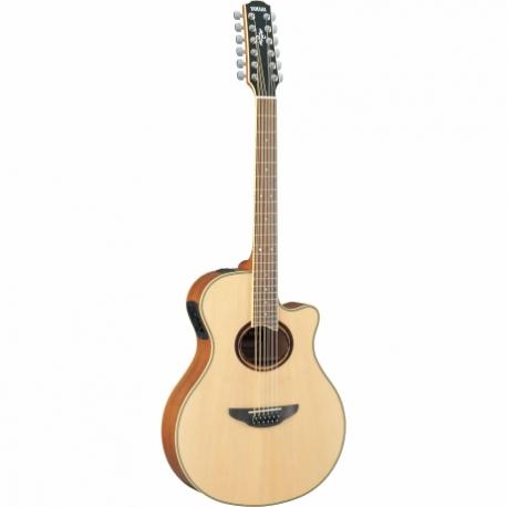Guitarra Acústica YAMAHA Guitarra EA serie APX 12 cuerdas de acero, tapa sólida, 12 cuerdas GAPX700II-12 - Envío Gratuito