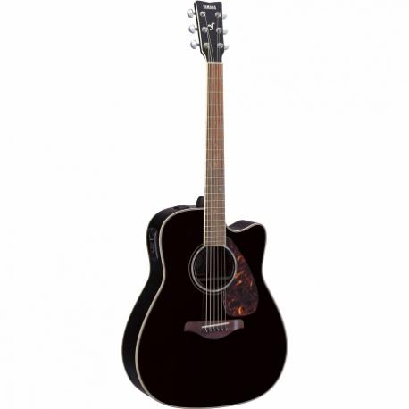Guitarra Acústica YAMAHA Guitarra Folk EA tapa sólida, Negra  GFGX730SCBL - Envío Gratuito