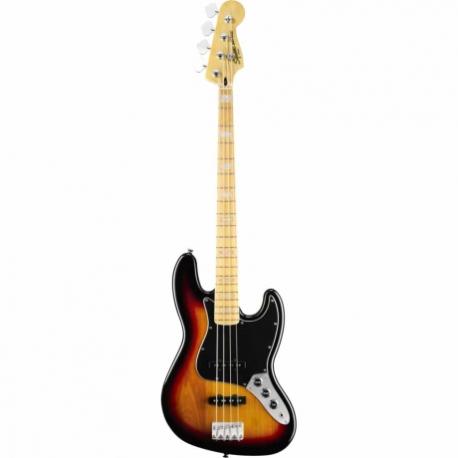 Bajo Eléctrico Squier Vintage Modified Jazz Bass 77 Maple Fingerboard 3-Color Sunburst 0307702500 - Envío Gratuito