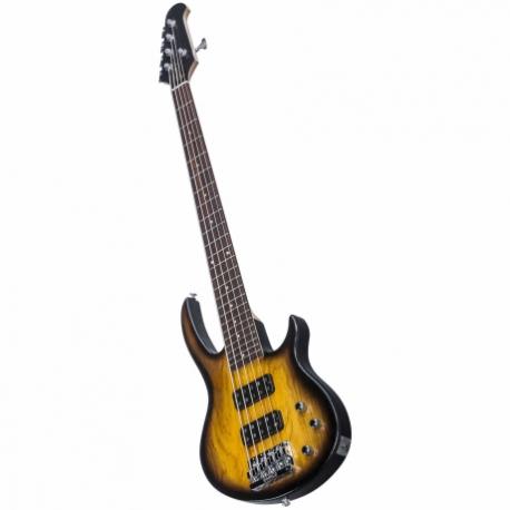 Bajo Eléctrico GIBSON New EB Bass 5 String T 2017 Satin Vintage Sunburst  BAEB517SVCH1 - Envío Gratuito